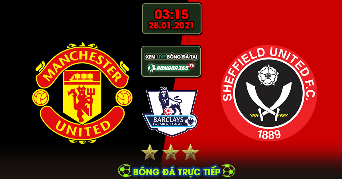 Trực tiếp Manchester united vs Sheffield united - 28-01-2021